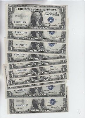 Silver Certificate $1 1935's 10 notes some  have consecutive Runs uncirculated