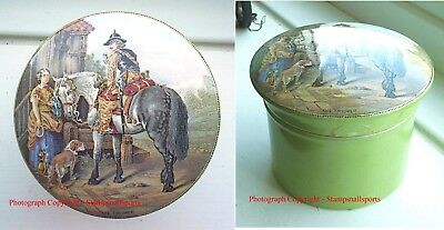 PRATTWARE POT LID 'THE TROOPER' UNLISTED GREEN BASE with powder applicator