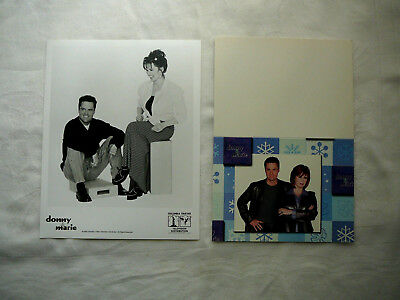 Donny & Marie Osmond 1999 Photo & Christmas Card  W/ Vegas Show Bonus