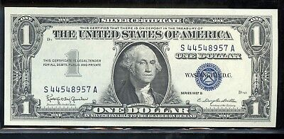1957-B United States $1 UNC Silver Certificate Currency Note - ED304
