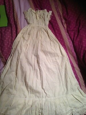 Lot of 5 Hand worked Antique 19th Century Baby Dresses / Christening Gowns