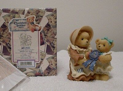 """Cherished Teddies """"SIMONE AND JHODI"""" MOM & DAUGHTER- I'VE ALWAYS BELIEVED IN YOU"""