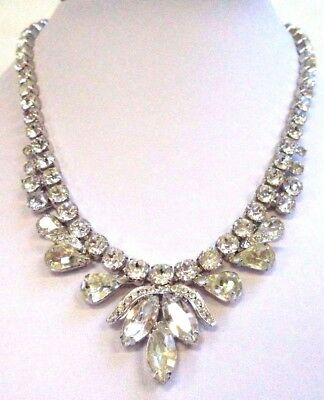 "*rare* Stunning Vintage Estate Signed Weiss Rhinestone 17"" Necklace!!! G6616V"