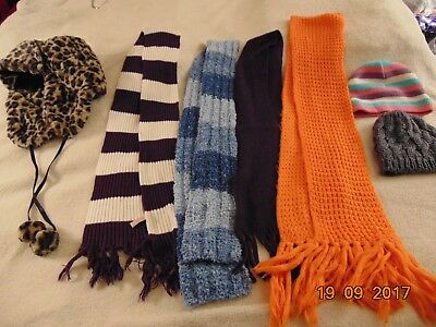 Lot of 7 Women's/Juniors Winter Hats Scarves,Scarf,Women's winter accessories