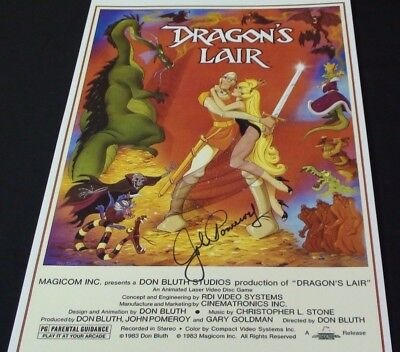 11x17 inch Dragon's Lair lithograph signed by John Pomeroy!