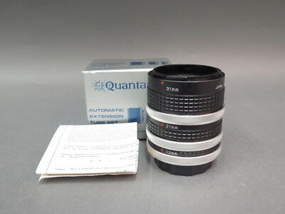 Quantaray Automatic Extension 3 Tube Set For Close-Ups 1:1 For Canon w/Box Japan