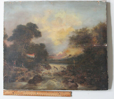 Fine Antique Oil Painting on Wood Panel/Late 18th Century/English? Dutch?