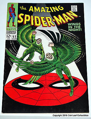 Amazing Spiderman 63 Marvel Comic Book 1968 Vulture! VF+