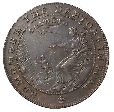 1790's Great Britain Somersetshire Halfpenny Conder Token D&H-36