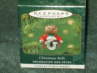 Hallmark 2001 Christmas Bells - Mouse -  Miniature Ornament - NEW