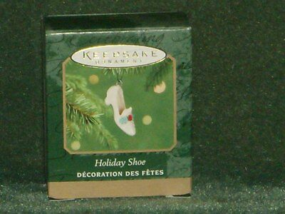 Hallmark 2001 Holiday Shoe - Miniature Ornament - NEW