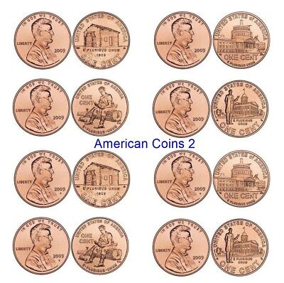 2009- P+ D *SET OF 8* with the VDB on the sholder of LINCOLN BICENTENNIAL UNC