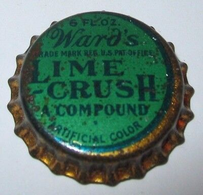 Ward's Lime Crush, A Compound, Soda Pop Bottle Cap; Unused Cork