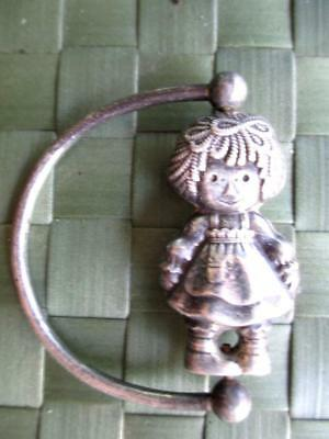 """Vintage """"raggedy Ann"""" Teething Ring & Rattle .sterling Silver Or American"""