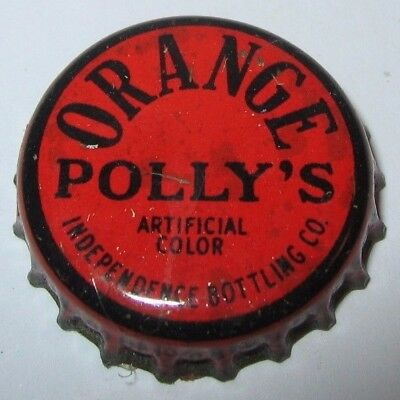 Polly's Orange Soda Pop Bottle Cap; Independence, Mo; Used Cork
