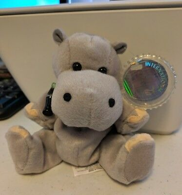 """1999 Coca-Cola Meeska The Hippo Zambia International Collection With Tags 8"""""""