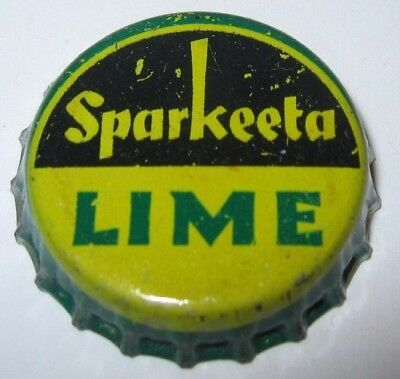 Sparkeeta Lime Soda Pop Bottle Cap; Los Angeles, Ca; Used Cork