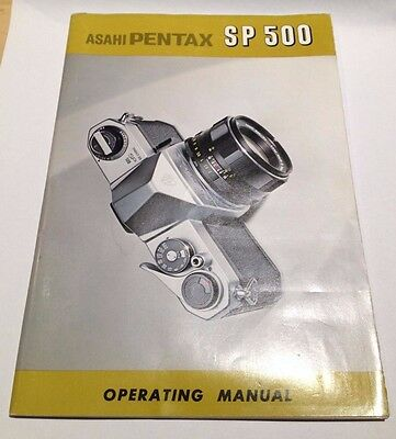 Asahi PENTAX SP 500 operating manual