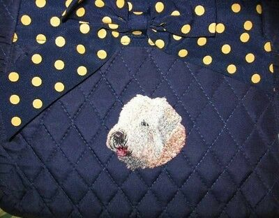 Q purse SOFT COATED WHEATEN Dark Navy Quilted Microfiber Fabric Hipster Purse