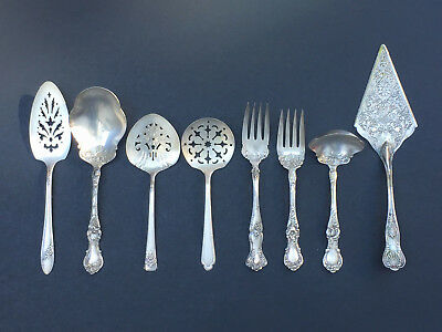 Lot of Antique 1900's Silver Plated Serving Utensils Wallace W.M Rogers Oneida