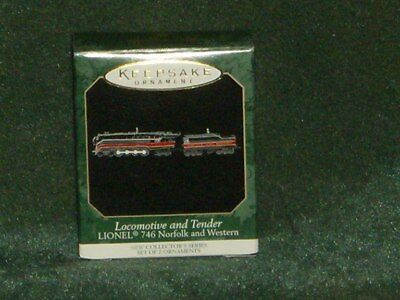 Hallmark 1999 Locomotive and Tender - Lionel 746  - Miniature Ornament - NEW