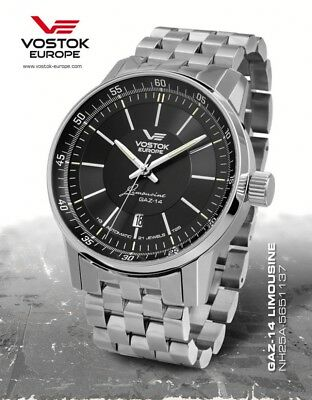 Vostok Europe GAZ 14 Automatic with trigalights nh35a-5651137b