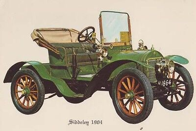 Siddeleg Car 1904 Vintage Artist Drawing Picture Rare Postcard
