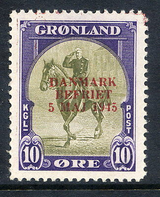 GREENLAND 1945 Liberation overprint in red on 10 Øre  MNH / **