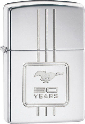 Zippo Ford 50 Years Mustang 28542 High Polish Chrome Lighter