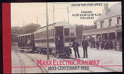 Isle Of Man 1993 £4.44 Electric Railway Booklet Sb34