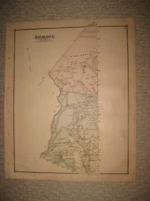 Antique 1876 Jackson Sugarloaf Township Columbia County Pennsylvania Handclr Map