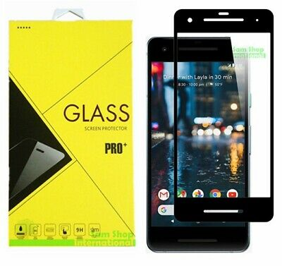 FULL COVER Premium Tempered Glass Screen Protector Guard For Google Pixel 2