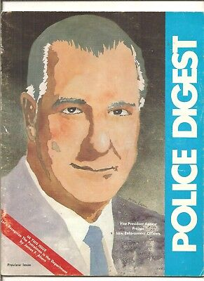 1972 preview issue Police Digest, Spiro T. Agnew cover