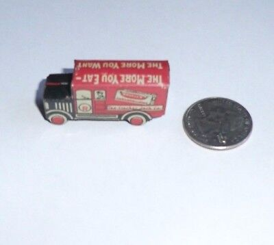 Antique Cracker Jack Tin Marshmallow Truck Prize
