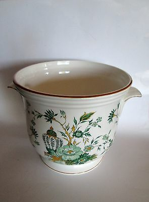 """Vintage Crown Staffordshire Kowloon Planter Handled 6"""" tall Discontinued China"""