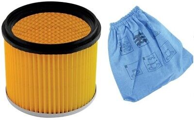 Fox F50-800 Vac / Dust Extractor 3 Filter Set - Poly Pleated / Washable / Foam