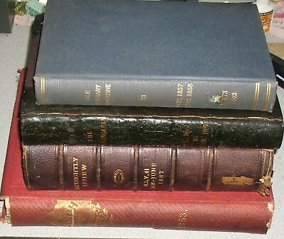 ANTIQUE BOOKS Lot of 4 Bound Magazines 1800s Cosmopolitan Punch Yale Literary +