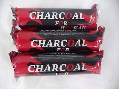 33 mm Charcoal Tablet for Incense Hookah, Hooka Shisha: 3 Roll x 10 Tablet = 30