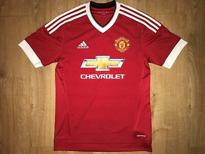 Mens Adidas Manchester United Red Home Football Shirt 2015-2016 Climacool Small