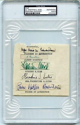 Albert Einstein Signed Autographed PSA/DNA LOA