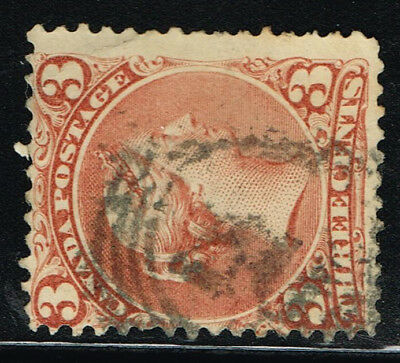 """Canada  Large Queen Fine 25 """"20"""" 4-Ring Cancel (Ocr13"""