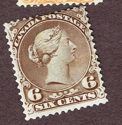 Canada Large Queen #27  Fine Lightly Used   (Ocr11