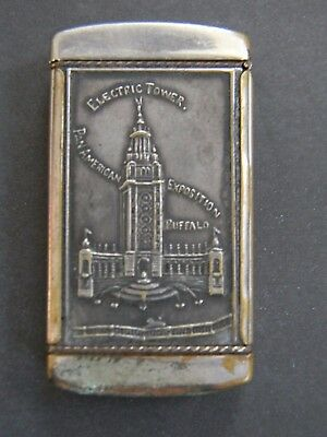 1901 Pan American Exposition Match Safe - Electric Tower - Match Holder