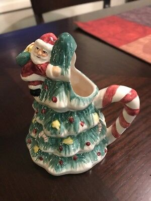 Fitz and Floyd Omnibus SANTA CLAUS Creamer 1996 Retired Hand Painted