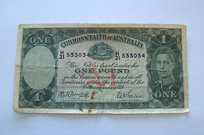 1938-1952 Commonwealth of Australia One Pound Bank Note