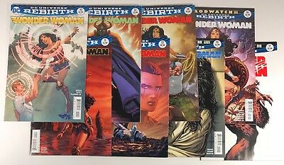 Wonder Woman Comic Book 8 Issue Run Lot #10 - #17, DC Rebirth 2017