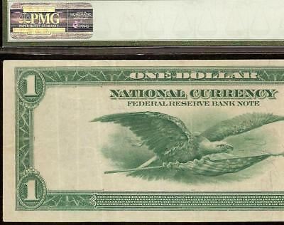 LARGE 1918 $1 DOLLAR BILL BOSTON NATIONAL BANK NOTE CURRENCY MONEY Fr 710 PMG