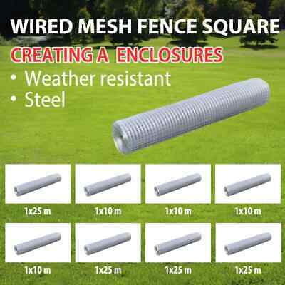 vidaXL Galvanised Wire Netting Mesh Pet Poultry Fencing Chicken Coop Multi Sizes