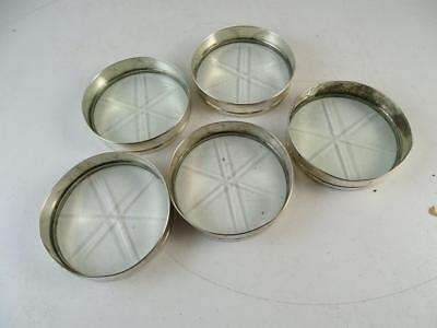 Antique Sterling Silver Cut Glass Coaster Set Frank Whiting x5 Cup 1920s Vintage