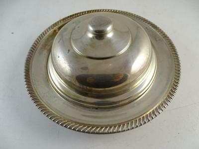 Vintage Sterling Silver Chilled Butter Covered Dish Jar Fisher Glass Insert 122g